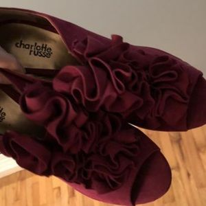 Charlotte Russe Shoes - Brand New Magenta Pink Charlotte Russe heels